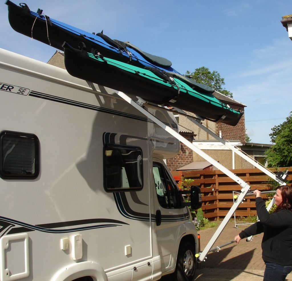 High Lift Roof Rack System for Kayaks