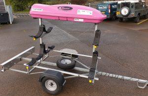Sanda custom sea kayak trailer for Eila Wilkinson