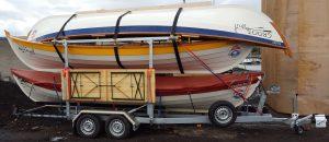 Skiff triple trailer