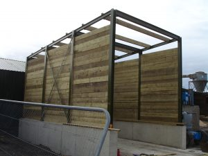 Co Products bunker for sawmill