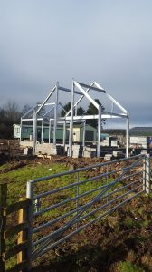 Structural steelwork for house