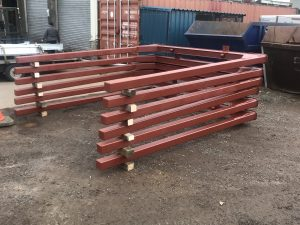 Log bolsters for timber lorries