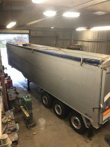 Repair to aluminium tipper trailer body