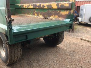 Repair to farm trailer