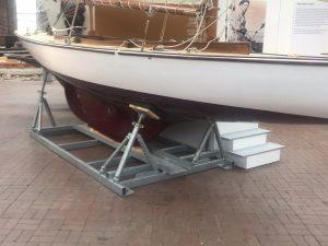 Yacht storage stillage for Scottish maritime museum